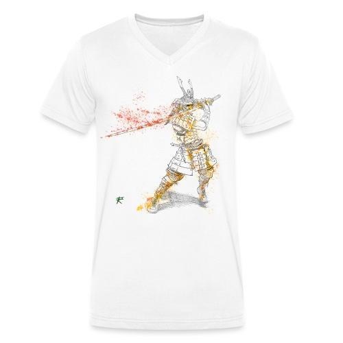 Samurai color - T-shirt ecologica da uomo con scollo a V di Stanley & Stella