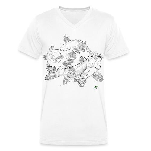 Carpa koi - T-shirt ecologica da uomo con scollo a V di Stanley & Stella