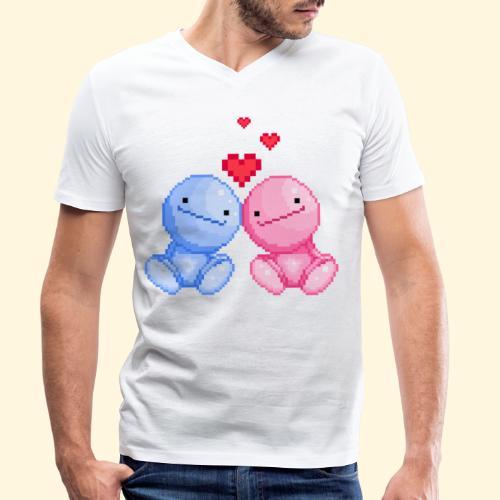 Nohohon amoureux de la Saint Valentin - T-shirt bio col V Stanley & Stella Homme
