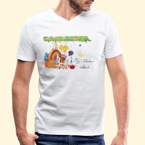Tout à coup, le temps a considérablement ralenti - T-shirt bio col V Stanley & Stella Homme