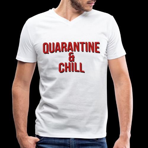 Quarantine & Chill Corona Virus COVID-19 - Männer Bio-T-Shirt mit V-Ausschnitt von Stanley & Stella