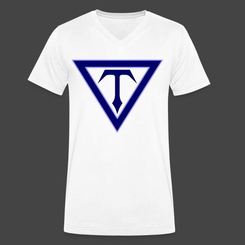 T-Eagle Records - Logo - Männer Bio-T-Shirt mit V-Ausschnitt von Stanley & Stella