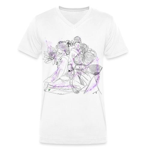 Geisha color - T-shirt ecologica da uomo con scollo a V di Stanley & Stella
