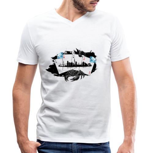 HHskyline - Männer Bio-T-Shirt mit V-Ausschnitt von Stanley & Stella