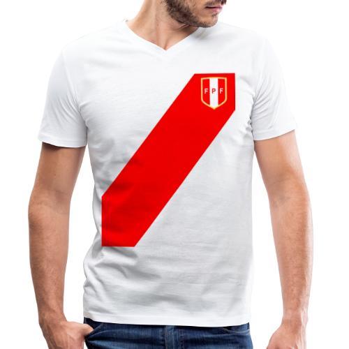 Seleccion peruana de futbol - Camiseta ecológica hombre con cuello de pico de Stanley & Stella