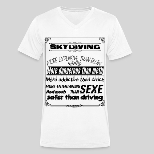 Skydive addiction - T-shirt bio col V Stanley & Stella Homme