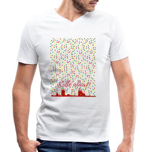 Konfettiregen, Kölle alaaf! - Männer Bio-T-Shirt mit V-Ausschnitt von Stanley & Stella