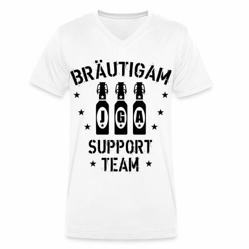 03 JGA Bierflaschen Bräutigam Support Team - Männer Bio-T-Shirt mit V-Ausschnitt von Stanley & Stella