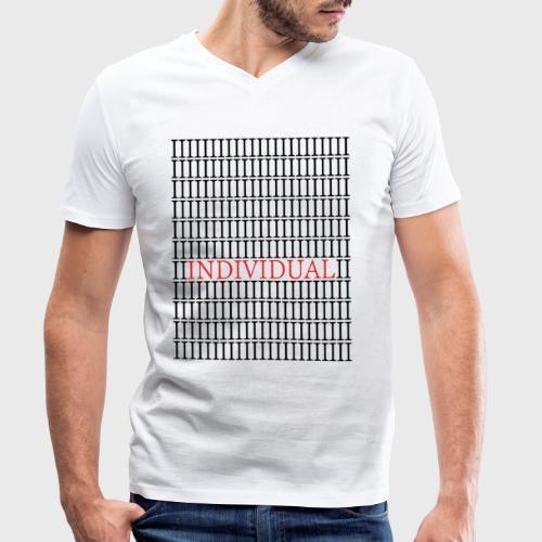 Individual - Mannen bio T-shirt met V-hals van Stanley & Stella