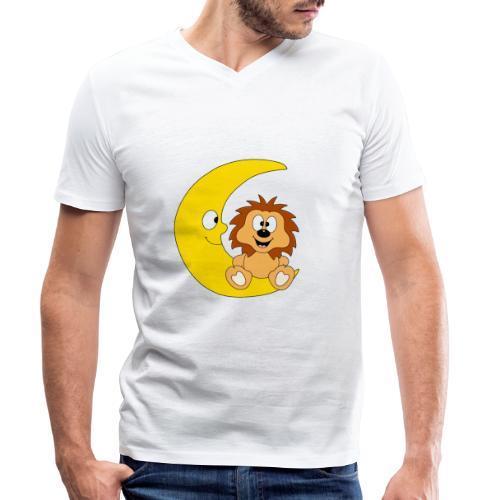 Lustiger Igel - Mond - Kinder - Baby - Fun - Männer Bio-T-Shirt mit V-Ausschnitt von Stanley & Stella