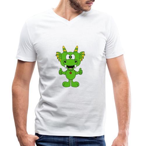 Lustiger Drache - Dragon - Kind - Baby - Fun - Männer Bio-T-Shirt mit V-Ausschnitt von Stanley & Stella