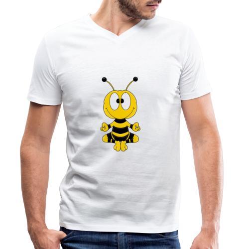 Lustige Biene - Yoga - Relax - Chill - Tier - Fun - Männer Bio-T-Shirt mit V-Ausschnitt von Stanley & Stella