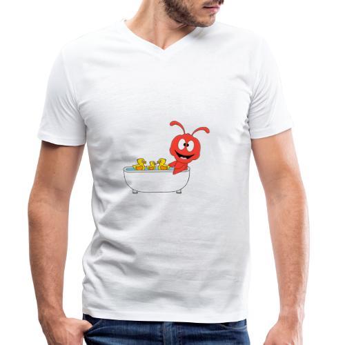 Lustige Ameise - Badewanne - Kind - Baby - Fun - Männer Bio-T-Shirt mit V-Ausschnitt von Stanley & Stella