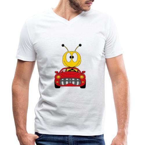 Lustige Biene - Auto - Cabrio - Tier - Fun - Männer Bio-T-Shirt mit V-Ausschnitt von Stanley & Stella