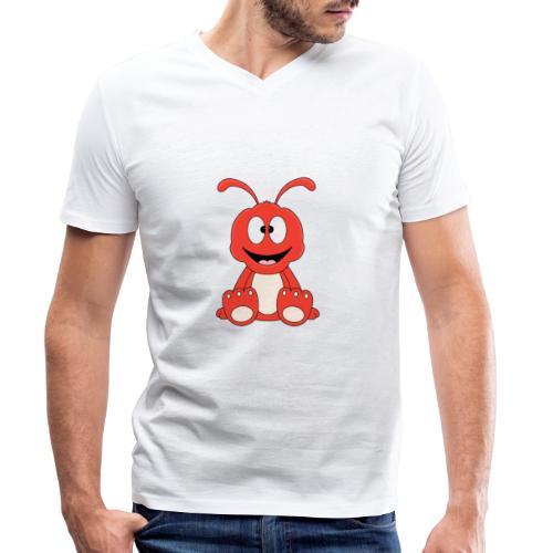 Lustige Ameise - Ant - Kind - Baby - Tier - Fun - Männer Bio-T-Shirt mit V-Ausschnitt von Stanley & Stella