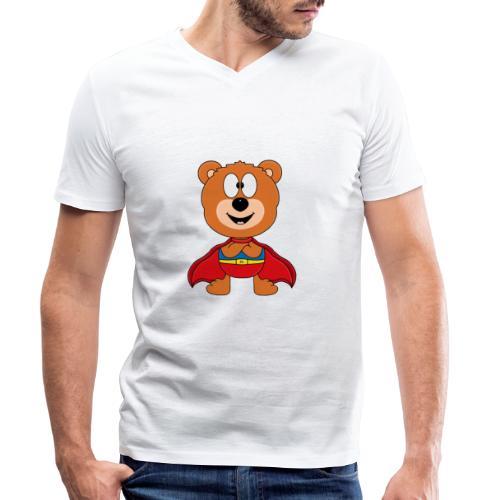 Teddy - Bär - Superheld - Kind - Baby - Tier - Männer Bio-T-Shirt mit V-Ausschnitt von Stanley & Stella