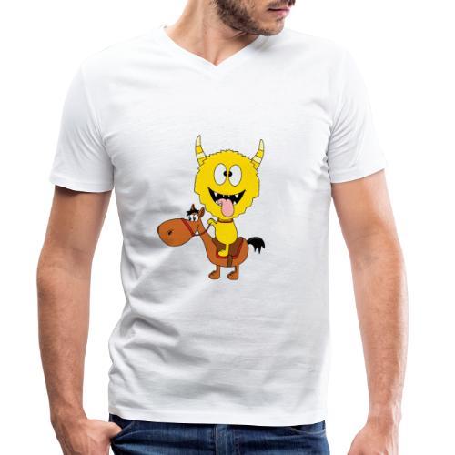 Monster - Pferd - Reiten - Pony - Kind - Baby - Männer Bio-T-Shirt mit V-Ausschnitt von Stanley & Stella