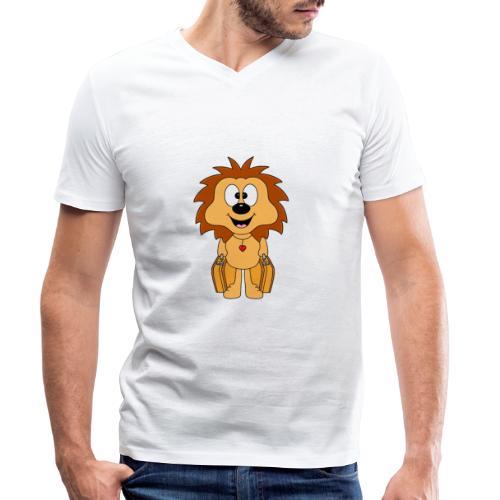 Igel - Koffer - Reise - Urlaub - Ferien - Tier - Männer Bio-T-Shirt mit V-Ausschnitt von Stanley & Stella