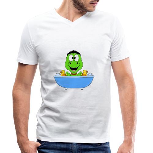 Dinosaurier - Badewanne - Kind - Baby - Fun - Männer Bio-T-Shirt mit V-Ausschnitt von Stanley & Stella