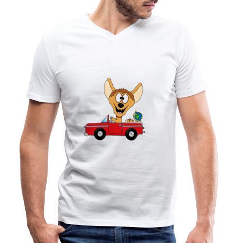 Hyäne - Auto - Reise - Urlaub - Tierisch - Fun - Männer Bio-T-Shirt mit V-Ausschnitt von Stanley & Stella