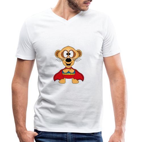 Erdmännchen - Superheld - Kind - Baby - Tier - Männer Bio-T-Shirt mit V-Ausschnitt von Stanley & Stella