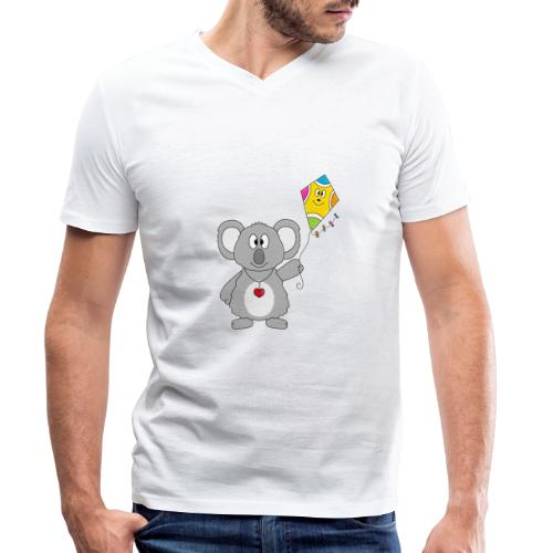 Panda - Drachen - Kite - Tier - Kind - Baby - Männer Bio-T-Shirt mit V-Ausschnitt von Stanley & Stella