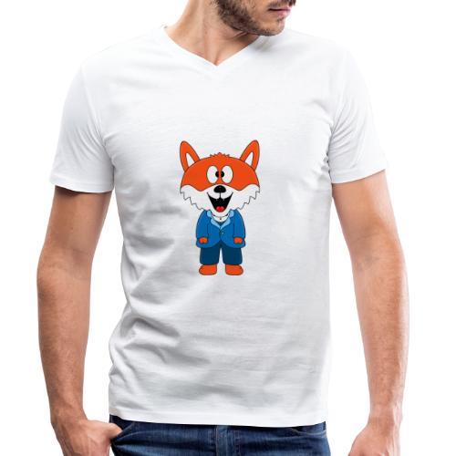 Fuchs - Bräutigam - Hochzeit - Heirat - Tier - Männer Bio-T-Shirt mit V-Ausschnitt von Stanley & Stella