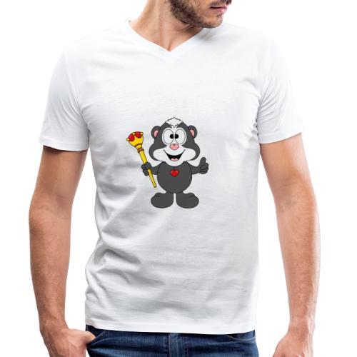 Stinktier - König - Königin - Tier - Kind - Baby - Männer Bio-T-Shirt mit V-Ausschnitt von Stanley & Stella