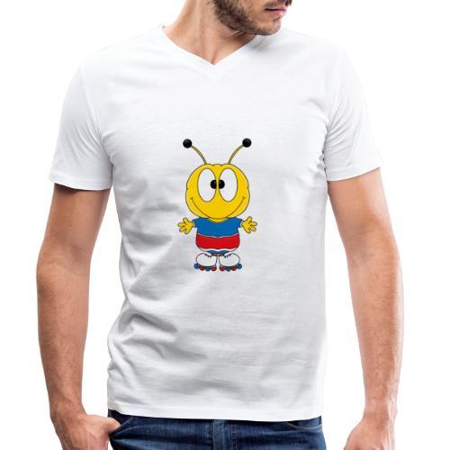 Biene - Inline Skates - Sport - Tier - Kind - Männer Bio-T-Shirt mit V-Ausschnitt von Stanley & Stella