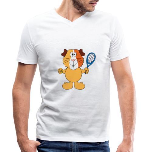 Meerschweinchen - Tennis - Sport - Tier - Kinder - Männer Bio-T-Shirt mit V-Ausschnitt von Stanley & Stella