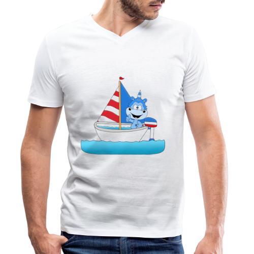 Einhorn - Segeln - Boot - Schiff - Kapitän - See - Männer Bio-T-Shirt mit V-Ausschnitt von Stanley & Stella