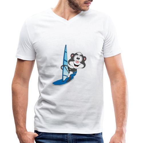 Stinktier - Surfer - Windsurfer - Wassersport - Männer Bio-T-Shirt mit V-Ausschnitt von Stanley & Stella
