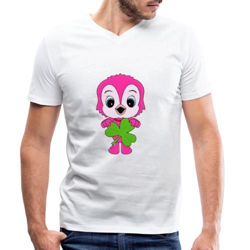 Eule - Kleeblatt - Vogel - Tier - Kind - Baby - Männer Bio-T-Shirt mit V-Ausschnitt von Stanley & Stella