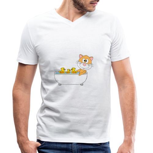 Hamster - Badewanne - Kind - Baby - Tier - Fun - Männer Bio-T-Shirt mit V-Ausschnitt von Stanley & Stella