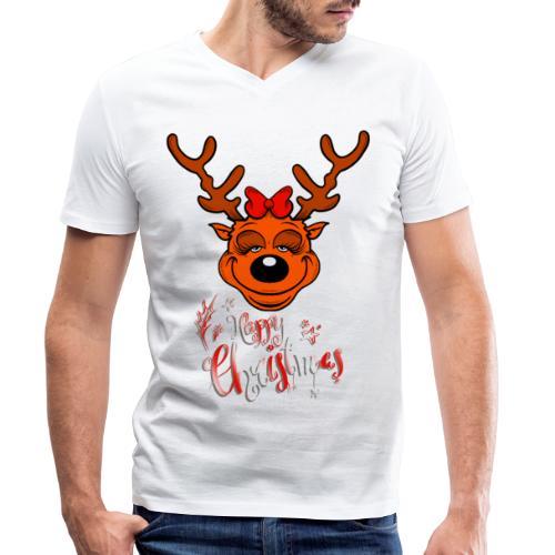 Merry Christmas - Männer Bio-T-Shirt mit V-Ausschnitt von Stanley & Stella