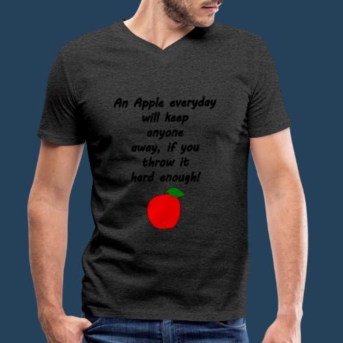 Apple Doctor - Männer Bio-T-Shirt mit V-Ausschnitt von Stanley & Stella