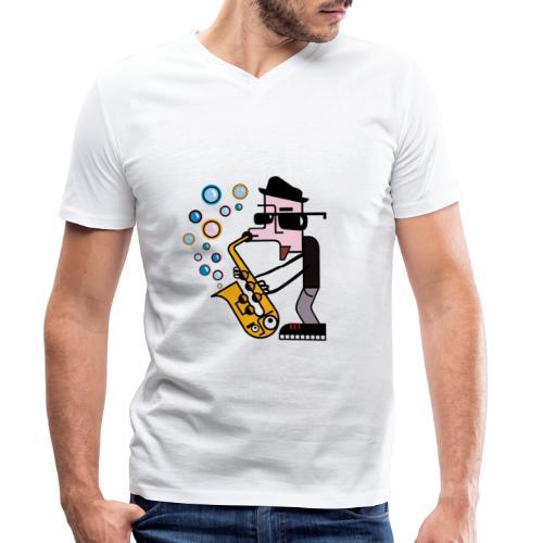 Music 6 - T-shirt ecologica da uomo con scollo a V di Stanley & Stella