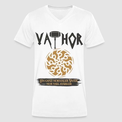 Vathor Vater Vatertag Geschenkidee - Männer Bio-T-Shirt mit V-Ausschnitt von Stanley & Stella