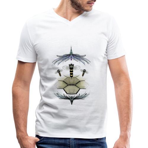beeslad piccolo mondo delle api - T-shirt ecologica da uomo con scollo a V di Stanley & Stella