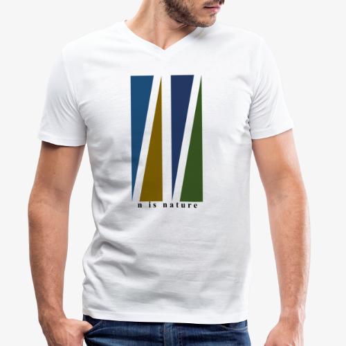 n is nature - Camiseta ecológica hombre con cuello de pico de Stanley & Stella