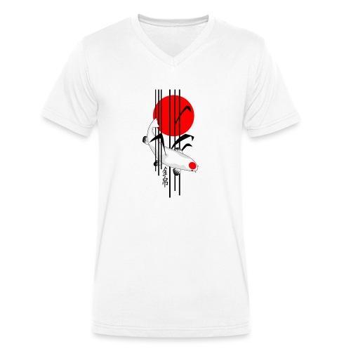 Bamboo Design - Nishikigoi - Koi Fish 5 - Männer Bio-T-Shirt mit V-Ausschnitt von Stanley & Stella