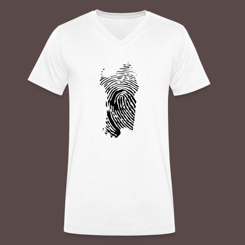 Sardegna Impronta Digitale - T-shirt ecologica da uomo con scollo a V di Stanley & Stella