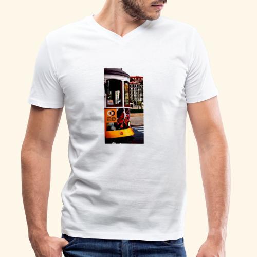 Scorcio tram colorato - T-shirt ecologica da uomo con scollo a V di Stanley & Stella