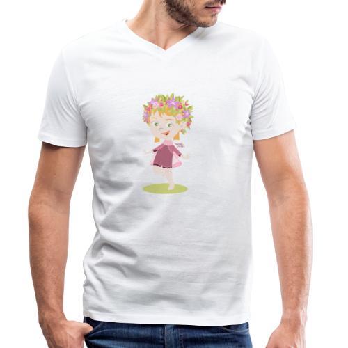 Danser sous le soleil de minuit en Finlande - T-shirt bio col V Stanley & Stella Homme