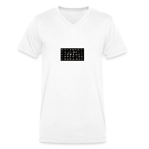 Turks Flag Symbols - Männer Bio-T-Shirt mit V-Ausschnitt von Stanley & Stella