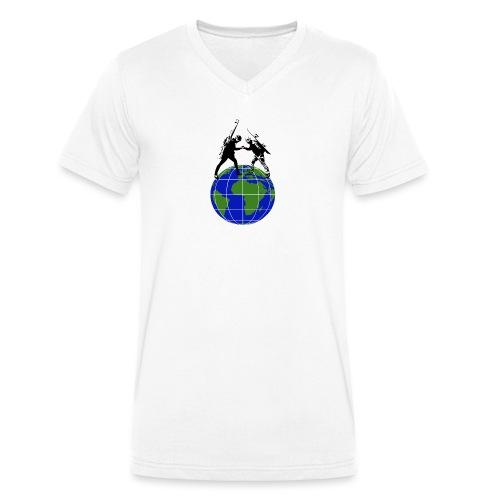 Utforske 2018 - Økologisk T-skjorte med V-hals for menn fra Stanley & Stella