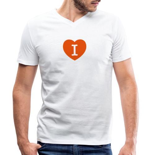 I - LOVE Heart - Men's Organic V-Neck T-Shirt by Stanley & Stella