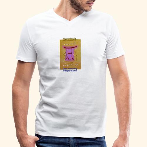 Ohm Nami Ong - Männer Bio-T-Shirt mit V-Ausschnitt von Stanley & Stella