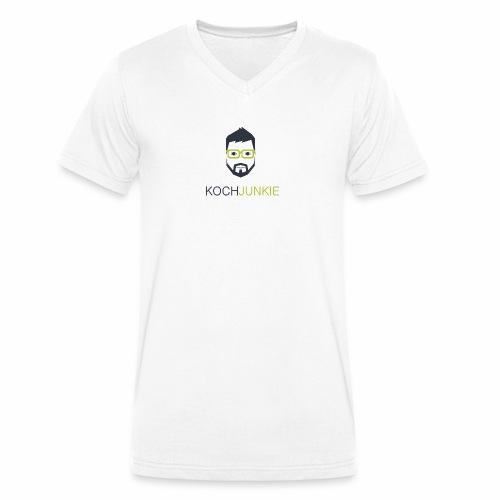 Kochjunkie - Männer Bio-T-Shirt mit V-Ausschnitt von Stanley & Stella