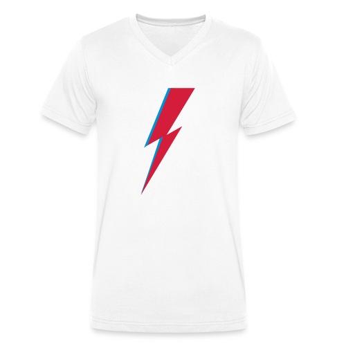 Blitz, Musik, Bowie, heroes, blackstar, rebel - Männer Bio-T-Shirt mit V-Ausschnitt von Stanley & Stella